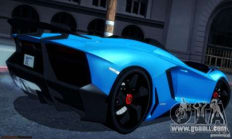Lamborghini Aventador J for GTA San Andreas left view