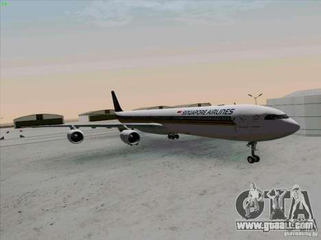 Airbus A-340-600 Singapore for GTA San Andreas