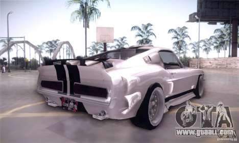 Shelby GT500 for GTA San Andreas back view