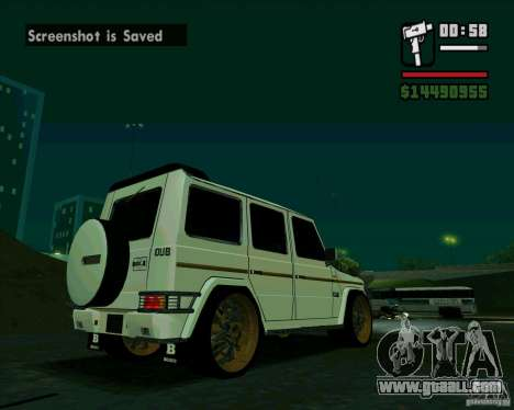 Mercedes Benz G500 Dub Edition for GTA San Andreas right view