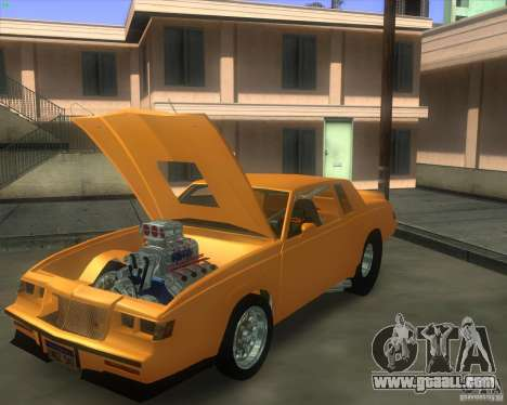 Buick GNX pro stock for GTA San Andreas back left view