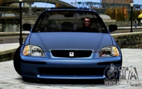 Honda Civic Vti for GTA 4 inner view