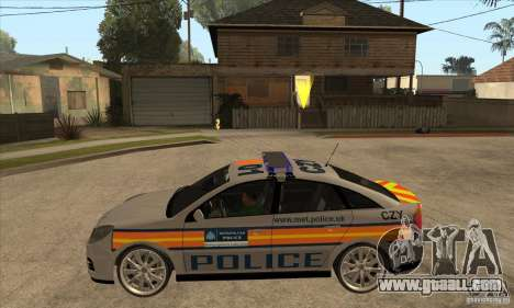 Opel Vectra 2009 Metropolitan Police for GTA San Andreas left view