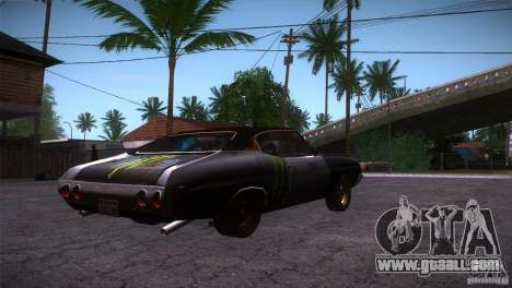 Chevrolet Chevelle SS DC for GTA San Andreas right view