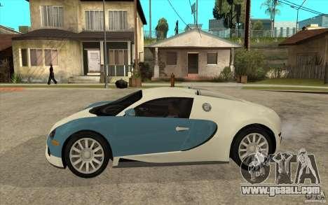 Bugatti Veyron Final for GTA San Andreas left view