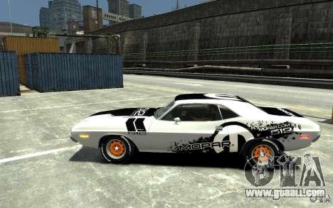 Dodge Challenger R/T Hemi 1970 for GTA 4 left view