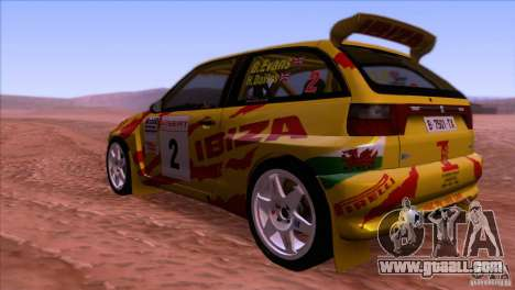 Seat Ibiza Rally for GTA San Andreas back view