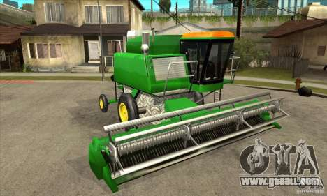 Combine Harvester Retextured for GTA San Andreas back view