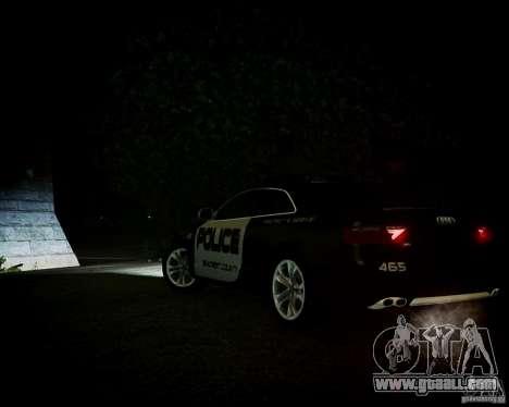 Audi S5 Police for GTA 4 inner view