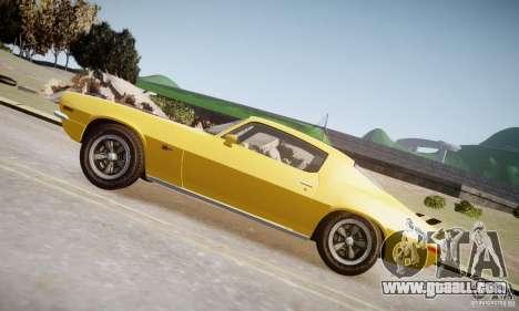 Chevrolet Camaro Z28 for GTA 4 left view