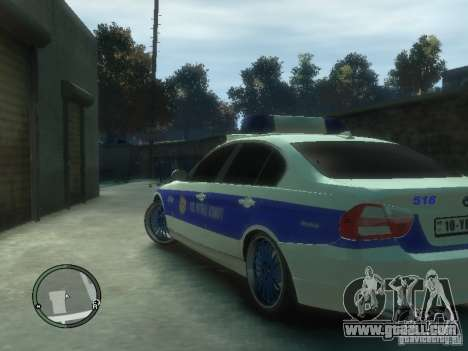 BMW 320i Police for GTA 4 back left view