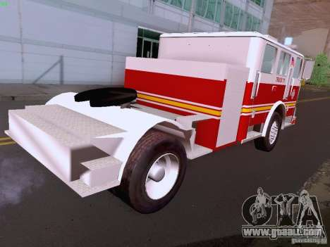 Seagrave Tiller Truck for GTA San Andreas side view