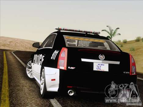 Cadillac CTS-V Police Car for GTA San Andreas inner view