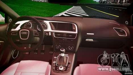 Audi S5 Hungarian Police Car black body for GTA 4 back view