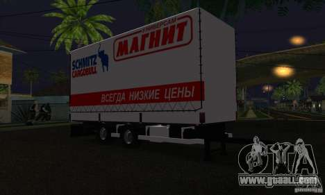 Trailer for Scania R620 for GTA San Andreas back left view