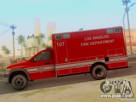 Dodge Ram 1500 LAFD Paramedic for GTA San Andreas left view