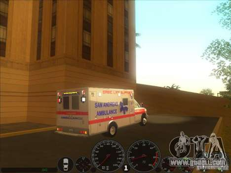 Ford E-350 Ambulance 2 for GTA San Andreas back left view