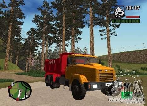 KrAZ 65055 Truck for GTA San Andreas back view
