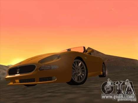Maserati Spyder Cambiocorsa for GTA San Andreas left view