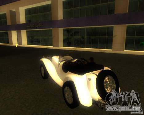 Jaguar SS 100 for GTA San Andreas left view