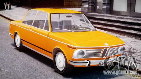 BMW 2002 1972 for GTA 4 inner view