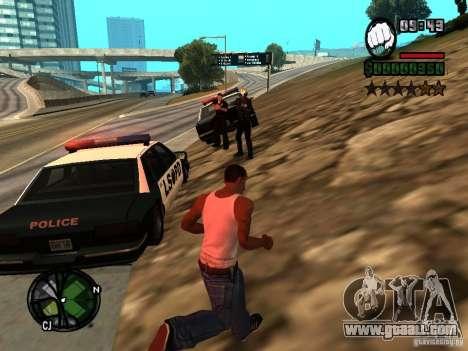 HUD and font v1.0 for GTA San Andreas second screenshot