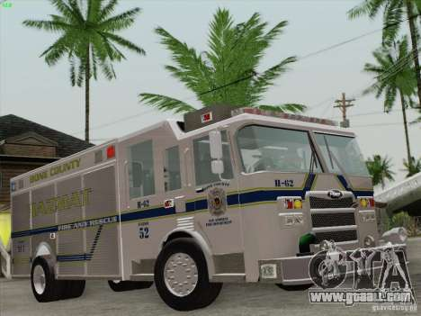 Pierce Fire Rescues. Bone County Hazmat for GTA San Andreas engine