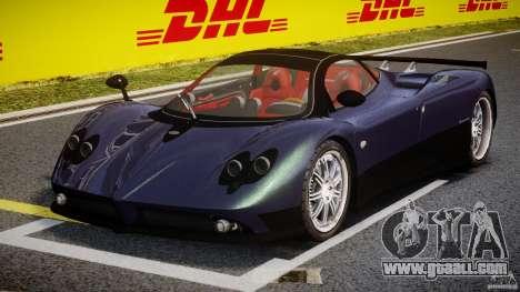 Pagani Zonda F for GTA 4 back view