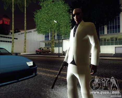 White costume for GTA San Andreas second screenshot