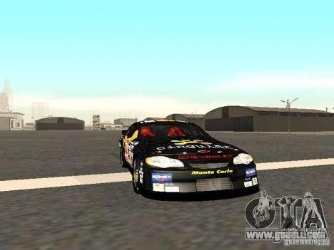 Chevrolet Monte Carlo Nascar CINGULAR Nr.31 for GTA San Andreas left view