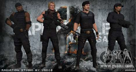 The Expendables for GTA San Andreas