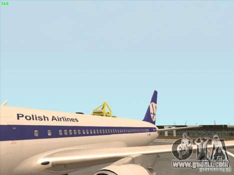 Boeing 767-300 LOT Polish Airlines for GTA San Andreas right view