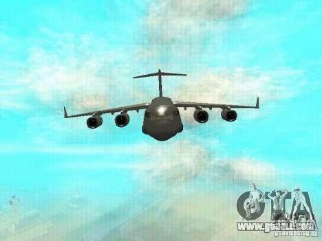 C-17 Globemaster for GTA San Andreas left view