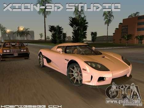 Koenigsegg CCX for GTA Vice City back view
