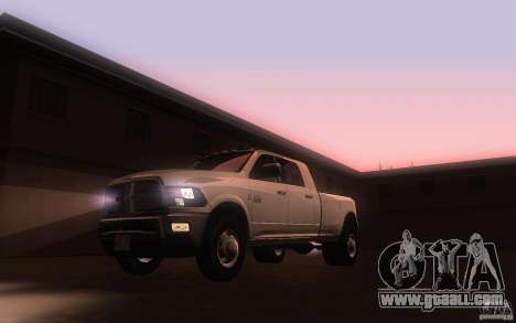 Dodge Ram 3500 Laramie 2010 for GTA San Andreas left view