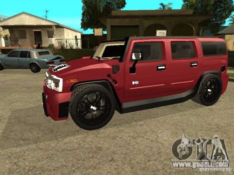 Hummer H2 Tuning for GTA San Andreas left view
