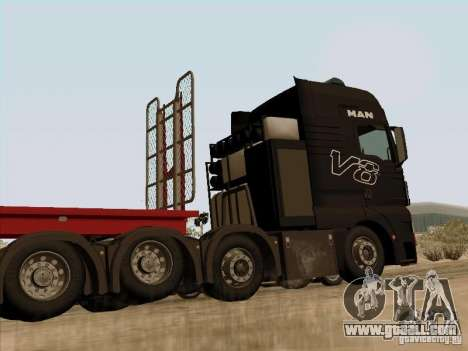 MAN TGX 8x4 for GTA San Andreas back left view
