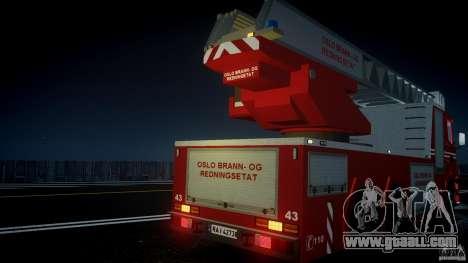 Scania Fire Ladder v1.1 Emerglights blue [ELS] for GTA 4 engine