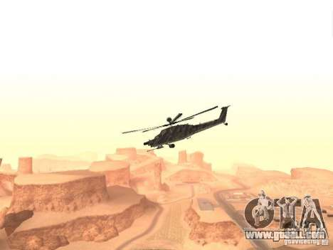 MI 28 Havok for GTA San Andreas left view
