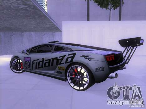 Lamborghini Gallardo Racing Street for GTA San Andreas back left view