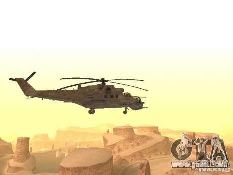 Mi-24 p Desert Camo for GTA San Andreas right view