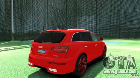 Audi Q7 v12 TDI for GTA 4 back left view