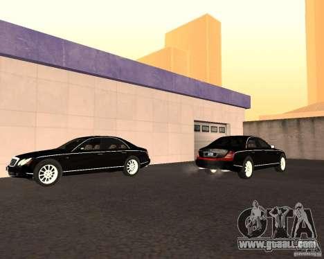 Maybach 57S for GTA San Andreas inner view