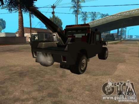 H1 HUMMER truck for GTA San Andreas back left view