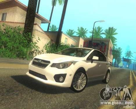 Subaru Impreza Sedan 2012 for GTA San Andreas