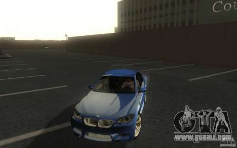 BMW M5 2012 for GTA San Andreas back view