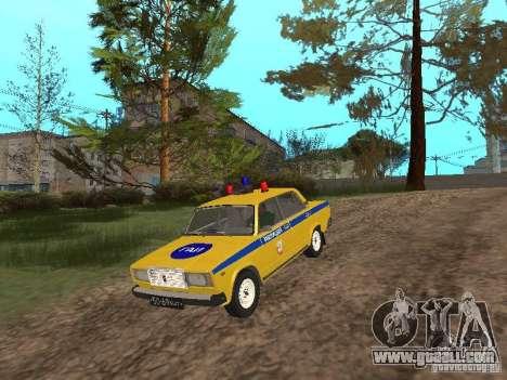 VAZ 2107 CAR INSPECTION for GTA San Andreas