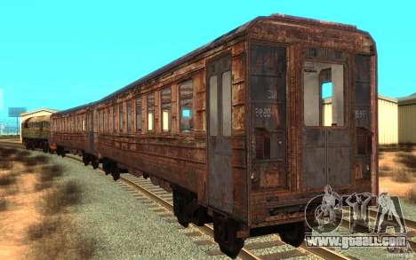A train of the game s.t.a.l.k.e.r. for GTA San Andreas back left view