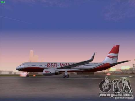 Tupolev Tu-204 Red Wings Airlines for GTA San Andreas left view