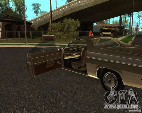 Chevrolet El Camino 1973 for GTA San Andreas right view